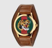женские кожаные наручные часы оптовых-Мода дамы наручные часы Кожаный ремешок для часов Марка женские кварцевые часы алмазные женские Наручные часы Montres Femmes