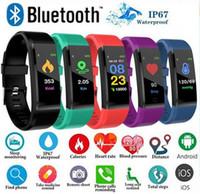 femme iphone achat en gros de-ID 115Plus Smart Fitness Bracelet Tracker Écran Coloré Écran Tensiomètre Moniteur de Fréquence Cardiaque Femmes Montre pour iphone Samsung Huawei xiaomi