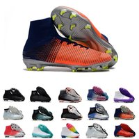 Wholesale cristiano ronaldo new soccer cleats resale online - new high ankle mercurial superfly CR7 FG soccer shoes for men Cristiano Ronaldo Neymar JR ACC Socks Soccer Cleats size39