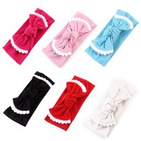Wholesale white hair bands accessories for sale - Group buy Baby knot Headbands Bow Hair band Lace Head Band Baby girl hair accessories