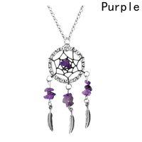Wholesale long metal wholesale fashion earrings - Long Necklaces & Pendants For Women Feather Pendant Earrings Sets Jewelry Vintage Fashion Catcher Dream