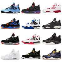 Discount superman cotton fabric - 2018 New Travis 4 Cactus Jack 4s Mens Raptors Basketball Shoes 4s White Cement Black Red 4 Superman Fashion Sneakers Sports Shoes