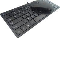 windows xp laptops achat en gros de-Mode filaire ultra-mince chocolat clé souris costume pour ordinateur portable clavier et souris avec windows xp 7 8 10 / iso