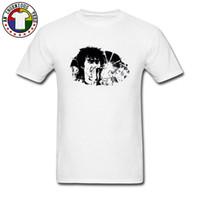 camiseta nueva imagen de diseño al por mayor-Hip-Hop Viktor Tsoi Rap Tinta Imagen Camisetas Populares Marca de moda Nuevos Tops Camisetas Manga corta Art Design Band Rock Camiseta hombre