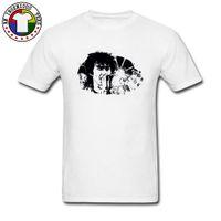 ingrosso shirt nuova immagine di design-Magliette Hip-Hop Viktor Tsoi Rap Ink T-shirt Moda popolare Brand New Top T Shirt manica corta Art Design Band Rock Tshirt Uomo