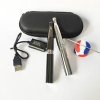 ingrosso penna di cera più caldo-Hot Wax Pen Skillet Ego Kit penna vaporizzatore con caricatore Ecig Starter Kit Dry penna Vape Herb Ego-d con doppia bobina al quarzo