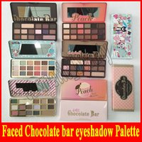 Wholesale color gift factory for sale - Group buy Factory direct faced Chocolate Bar Eyeshadow semi sweet Sweet Peach Bon Bons Palette Color white chocolate bar Eye Shadow plates gift