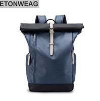 Wholesale personalized man backpacks resale online - brand men s bags new elements color bump mens backpack fashion curled edges personalized backpack waterproof Oxford cloth backpack