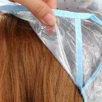 ingrosso evidenziando il tappo-2pcs / set fori di plastica riutilizzabili cappello + gancio professionale salone tintura tintura dei capelli Cap per capelli evidenziare strumento di colorazione