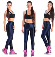ingrosso marche di caramelle americane-Women Shiny Brand New High Waist Pants Color American Dance Disco Candy A Fashion Pencil Workout Pants Hot Plus Size XL Mjbmj