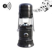 Wholesale portable flashlight power bank - Waterproof Bluetooth Speaker Power Bank USB TF Card FM Radio Bluetooth Speakers Multifunction Outdoor Speaker Torch Camping Lantern Light