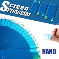 ingrosso cellule a film sottile-Proteggi schermo sottile ultra sottile sottile Nano Film per iPhone XS Max XR 8 7 6s Plus Proteggi schermo antideflagrante per cellulare