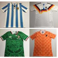 camisa blanco venda por atacado-S-2XL 1998 México Retro Jerseys Clássico Do Vintage camisa de Futebol Em Casa Verde HERNANDEZ BLANCO 98 camisa de futebol camisa de futebol