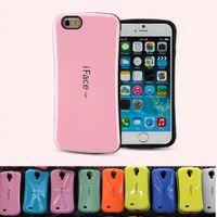 casos de iface mall al por mayor-Carcasa Iface Mall Para Iphone 6 7 8 más X Carcasas Para Galaxy Note 8 S8 PLUS Shock Proof Hybrid Candy Colors Casos Paquete Opp