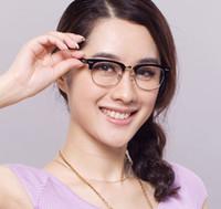 anteojos medio marco hombres al por mayor-Marcos ópticos 5154 Half Frames 51mm 49mm Marca de acetato Gafas para ojos Hombre Mujer Moda con estuche original