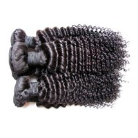 extensiones baratas del pelo del color al por mayor-Venta al por mayor barato brasileño rizado rizado extensiones de cabello humano teje paquetes 1kg 10bundles mucho color negro natural 5a grado 100gbundle