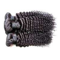 Wholesale black hair perm curly - cheap brazilian kinky curly human hair extensions weaves bundles kg bundles natural black color a grade gbundle