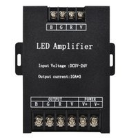 kontrol girişi toptan satış-LED RGB Amplifikatör Denetleyici Girişi 12 V 24 V 15A * 3 45A Sinyal Tekrarlayıcı 360 W için 3528 5630 5050 RGB Led Şerit