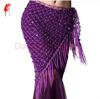 6b22c541b Women Belly Dance Clothes Sexy Sequins Belt For Girls Wear Triangle Hip  Scarf Ballroom Dance Clothing Lady Costumes