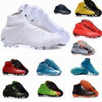 Wholesale eva 3d - 2017 Top Quality Hypervenom Phantom III DF FG 3D Outdoor Soccer Cleats Trainers Football Boost FG Mens Football Boots Soccer Shoes 39-45