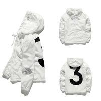 qualität herren jacken großhandel-2018 Mens KANYE WEST Jacke Hip Hop Windbreaker Modedesigner Jacken Männer Frauen Streetwear Oberbekleidung Mantel hohe Qualität JK001