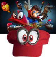 Wholesale cosplay costume mario for sale – halloween men women Game Super Mario Odyssey Hat Adult Anime Cosplay Cap Super Mario Odyssey Party Costumes Prop Hat KKA5897
