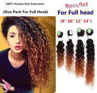 sarışın saç telleri toptan satış-8A Brezilyalı Bakire Saç Uzantıları 8 Demetleri Brezilyalı Işlenmemiş Remy İnsan Saç Dokuma KINKY Kıvırcık sarışın altın 1b kırmızı şarap saç rengi