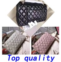 Wholesale Top Leather Handbags Brands - Top Fashion Shoulder Bags Famous Brand Classic Style Fashion Vintage Handbag Women bags Designer Handbags Wallet Leather Chain Crossbody bag