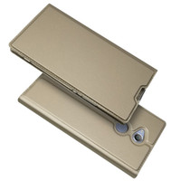 Wholesale magnetic sony xperia online – custom For Sony Xperia XZ1 Compact Xperia L1 Flip Case Magnetic Book Wallet Leather Case Kickstand Protective Shell Cover