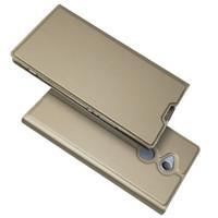 étui portefeuille livre achat en gros de-Pour Sony Xperia XZ1 Etui à rabat magnétique Livre portefeuille Etui en cuir Kickstand Housse de protection Shell