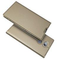 kitap cüzdan kılıfı toptan satış-Sony Xperia için XZ1 Kompakt Xperia L1 Flip Case Manyetik Kitap Cüzdan Kılıf Kickstand Koruyucu Kabuk Kapak