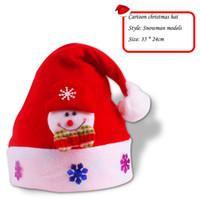 kadife örgü toptan satış-Noel Süslemeleri Hifts Noel Decorat Yetişkin Çocuk Tarzı Süslemeleri Dokuma Kadife Yüksek dereceli Şapka