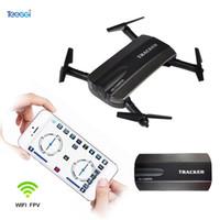 drones de caméra hubsan achat en gros de-JXD523 Tracker Drone pliable avec caméra HD Wifi FPV télécommande Altitude Hold sans tête Selfie RC Dron VS JJRC H47