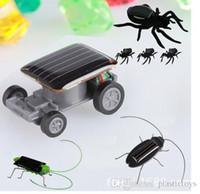 insetos robôs venda por atacado-Novo Bonito Robô De Energia Solar Inseto Bug Gafanhoto Gafanhoto Brinquedo De Energia Solar Mini Carro De Brinquedo Em Movimento Racer Ensinar Gadget
