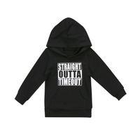 Mode Kleinkind Neugeborenes Baby Mädchen Baumwolle Schwarz Weiß Hoodie Tops Mit Kapuze Sweatshirt Pullover Outdoor 0 5 T