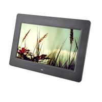 ingrosso sveglie mp3-Digital Photo Frame da 10 pollici HD TFT-LCD 1024 * 600 Digital Photo Frame sveglia Orologio MP3 MP4