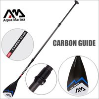 Wholesale Paddles Sup - CARBON GUIDE AQUA MARINA fibergalss paddle SUP stand up paddle board for surfing boards adjustable 180-210cm oar T handle
