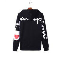 erkekler için düz renk kazaklar toptan satış-Yeni Varış Bayan Hoodies Tasarımcı Kadınlar Kazak Ada Kadife Düz Renk Marka Kadın Erkek Giysileri M-3XL, Siyah, Kırmızı