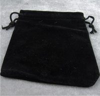 Wholesale Small Velvet Jewelry Pouches - Cheap Hot velvet jewelry pouches Fashion black bracelet bangles small bags pouches wholesale 10x12cm