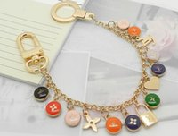 Wholesale bone style chain resale online - Factory Price High Quality Fashion Letter Birds Flowers Metal Keychain Letter key ring Bag chain Man Woman s decoration More Style