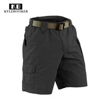 шорты ripstop оптовых-Hunting  US army Multi-Pocket cargo shorts Mens Pockets Ripstop tactical Outdoor Sport Hiking Training Shorts