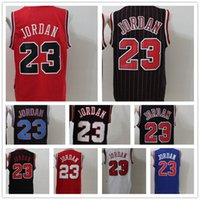 Wholesale embroidery jerseys - Throwback #23 Michael Men Basketball Jerseys 2003  1996  1993 All Stars Red White Black stripes Embroidery Jersey