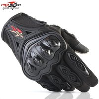 Wholesale red carbon full finger gloves resale online - Outdoor Sports Pro Biker Motorcycle Gloves Full Finger Moto Motorbike Motocross Protective Gear Guantes Racing Glove