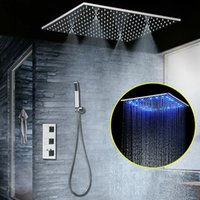 """Wholesale Mirrors Ceiling - Concealed Thermostatic Shower Set SUS304 Mirror Finished Panel with 20"""" Embedded Ceiling LED Shower Head Rainfall Mist SPA"""