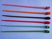 corbata de pan al por mayor-Bolsas de silicona 100% para uso alimentario Cable Management Zip Tie Twist Multiuso para uso múltiple Clip para bolsa Bread Tie Food Saver