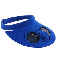 Wholesale mountain cars for sale - Group buy Sun Solar Power Cap with Cooling Fan for Out Door Golf Mountain Climbing Baseball Hats Built in mAh lithium ion battery