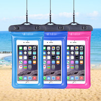 Wholesale waterproof case resale online - Universal Waterproof Case Cellphone Underwater Dry Bag Pouch For iPhone X Samsung S8 S9 Diving Swimming Max inch