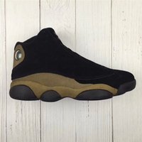 Wholesale 3d Nylon - Air Retro 13 Olive Basketball Shoes For Men Brown Black Real Carbon Fiber Authentic Sneakers 3D Eyes 2018 Newest Limited Sports With Box
