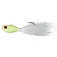 Wholesale large lures saltwater online - oz Salt water Super Large fishing Lead Head Bucktail Jig Fishing Lure