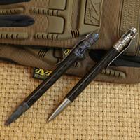 Wholesale Tactical Multi Pen - MG carbon fiber titanium Drill Rod tactical pen camping outdoors survival practical EDC MULTI utility write pens tools
